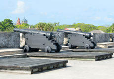 Cannons at Castle of San Marcos in St. Augustine, Florida Stock Image