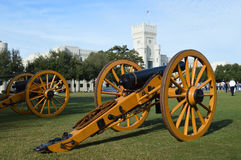Cannons at The Citadel Stock Photo