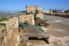 Cannons on city walls Royalty Free Stock Photo