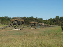 Cannons in civil war park Royalty Free Stock Photography