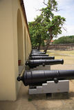 Cannons at Fort Jesus Royalty Free Stock Photo