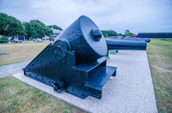 Cannons of Fort Moultrie on Sullivan's Island in South Carolina Royalty Free Stock Photos