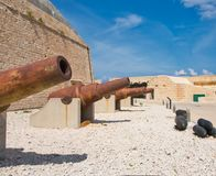 Cannons in Fort St Elmo royalty free stock photo