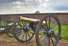 Cannons at Fort Washington Royalty Free Stock Images