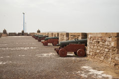 Cannons in the fortress in Essaouira Stock Photography