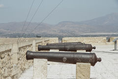 Cannons in the fortress Stock Photos
