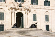 Cannons in front of building Royalty Free Stock Photos
