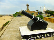 Cannons at Galbokka point, Colombo Fort Stock Photos