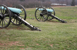Cannons at Gettysburg Stock Photography