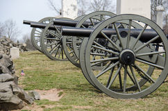 Cannons in Gettysburg National Battlefield Royalty Free Stock Images