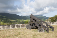 Cannons Guarding Battlement Royalty Free Stock Image