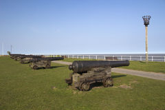 Cannons on Gun Hill, Southwold, Suffolk, England, Europe Stock Image