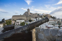 Cannons in Ibiza, Spain Royalty Free Stock Photography
