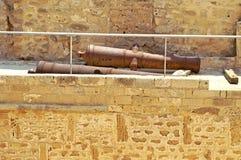 Cannons inside Ribat, Monastir Stock Image