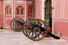 Cannons in Jaipur City Palace Royalty Free Stock Image
