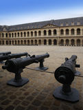 Cannons in Les Invalides (Hôtel des Invalide) in Paris, France. Stock Image