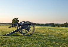 Cannons at Manassas Battlefield Stock Photography