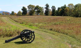 Cannons and meadows Royalty Free Stock Photography