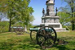 Cannons & Monument Royalty Free Stock Image