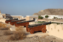 Cannons in Muscat, Oman Royalty Free Stock Photography