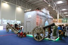 Cannons at National Tourism Fair of Romania, 2018 Stock Image
