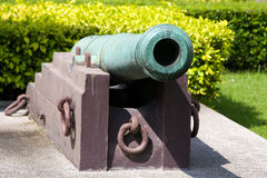 Cannons outside, Bangkok Stock Images
