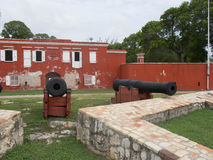 Cannons outside Ft Frederick Stock Photo