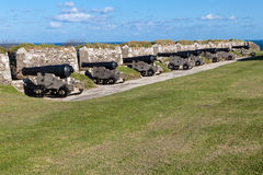 Cannons at the Pendennis Castle Royalty Free Stock Photos