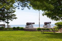 Cannons at Pioneer Park Southampton Stock Images