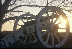 Cannons at the Revolutionary War National Park at sunrise, Valley Forge, PA Stock Images