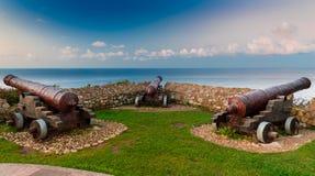 Cannons of Ribadesella Stock Image