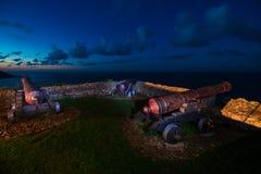 Cannons of Ribadesella Royalty Free Stock Photography