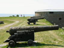Cannons in a row Stock Photography