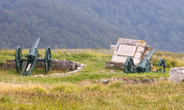 Cannons on the SHIPKA redoubt Royalty Free Stock Photo