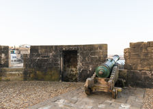 The cannons on the Skala de le Ville fort Stock Photography