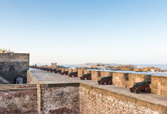 The cannons on the Skala de le Ville fort Royalty Free Stock Photography