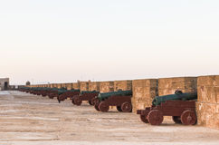 The cannons on the Skala de le Ville fort Royalty Free Stock Images