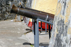 Cannons in St George's Fort. Grenada in the West Indies Stock Images