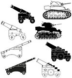 Cannons and tanks Royalty Free Stock Photography