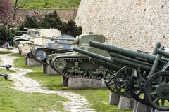 Cannons and the tanks Royalty Free Stock Photos