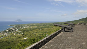 Cannons on the Top of a Fort Royalty Free Stock Photo