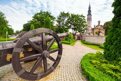 Cannons under Jasna Gora monastery in Czestochowa Stock Photo