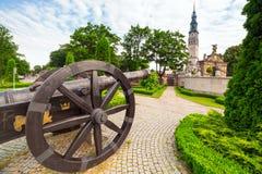 Cannons under Jasna Gora monastery in Czestochowa. City, Poland Stock Photo