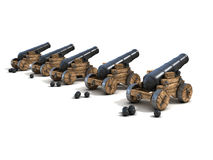 Cannons on a white background Royalty Free Stock Photos
