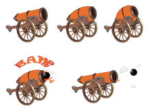 Cannons for you design and computer game Stock Photography