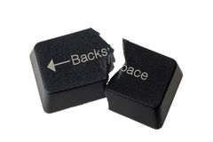 Cannot backspace Stock Image