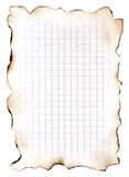 It cannot be. Sheet of the old paper which has turned yellow from time. On a sheet a marking as in a school writing-book. The picture is convenient for drawing Stock Image