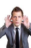 Cannot hear you!! Royalty Free Stock Photo