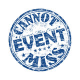 Cannot miss event stamp vector illustration