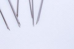 Cannula. on white of medical needle. Macro shot. Cannula on the white background royalty free stock photos
